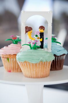 My godson would support Lego cake toppers and cupcakes!