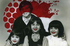 Carolle Benitah  - perles rouges cousues