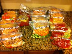 Freezer crockpot meals - think I'll try the hot and spicy peanut chicken