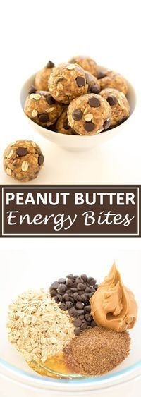 ⅔ cup creamy peanut butter ½ cup semi-sweet chocolate chips 1 cup old fashioned oats ½ cup ground flax seeds 2 tablespoons honey INSTRUCTIONS Combine all 5 ingredients in a medium bowl. Stir to combine. Place in the refrigerator for 15-30 minutes so they are easier to roll. Roll into 12 bites and store in the fridge for up to a week.