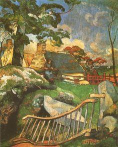 """Paul GAUGUIN - """"La Barrière"""" ou """"La Gardienne de porcs"""", 1889. Kunsthaus, Zürich"""