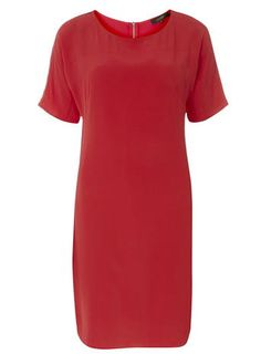 Luxe Hot Coral Tunic Dress