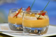 panna cotta poivron Saint-Jacques