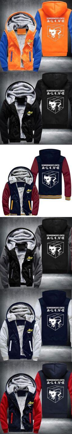 The Big Bang Theory Hoodies Men Funny ThickenZipper 2016 New Fashion Winter Style Hooded Sweatshirts USA size Plus size