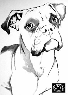 Boxer colouring page Elephant Coloring Page, Horse Coloring Pages, Dog Coloring Page, Animal Sketches, Animal Drawings, Dog Drawings, Animal Spirit Guides, Spirit Animal, Diy Canvas Art