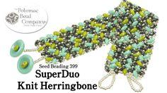 Make a SuperDuo Knit Herringbone Bracelet