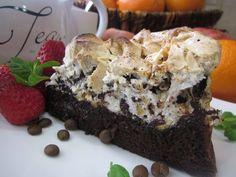 Рецепт- Шоколадный торт с ореховым безе