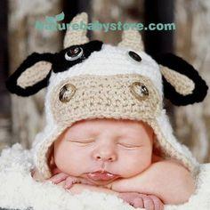 Naturebabystore.com Handmade Cow Baby Woolen Hat.