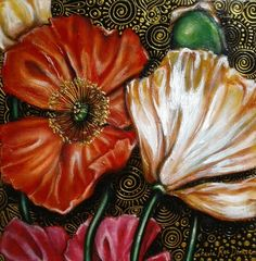 Sale ends today! Original Artwork, Original Paintings, South African Artists, Pink Poppies, Art Series, Free Prints, Art Auction, All Art, Xmas
