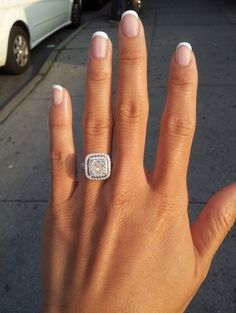 Wedding nails french round engagement rings id Dream Engagement Rings, Wedding Engagement, Wedding Band, Dream Wedding, Double Halo Engagement Ring, Cushion Cut Engagement, French Wedding, Perfect Wedding, The Bling Ring