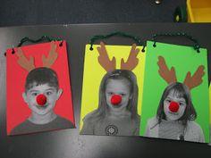 foam board reindeer kid faces- homemade Christmas craft idea