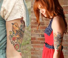 Pretty birdie tattoo!