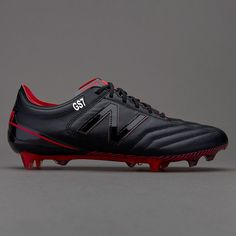 1f36ad8466a New Balance Furon 3.0 K-Leather FG - Black Red