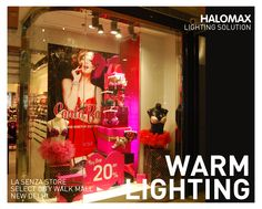 Lighting design can make all the difference to a store's success,  Retail Lighting at LA SENZA Store, Select City Walk, New Delhi by Halomax