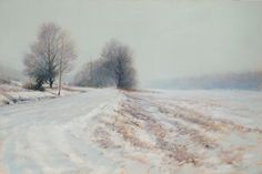 portfolio of the oil landscape paintings and prints of artist John MacDonald of the Berkshires in Williamstown Massachusetts. Impressionist Landscape, Watercolor Landscape, Landscape Art, Landscape Paintings, Watercolour Art, Watercolor Cards, Painting Snow, Winter Painting, Winter Art