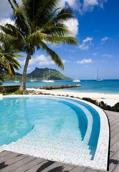 pool in Huahine French Polynesia