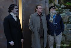 Twixt - Behind the scenes photo of Val Kilmer, Ben Chaplin & Francis Ford Coppola Ben Chaplin, 2011 Movies, Val Kilmer, Francis Ford Coppola, Elle Fanning, Scene Photo, Behind The Scenes, Fictional Characters, Collection