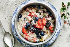 Madeline Shaw . Start the day in the way you mean to go on with this Raw Berry Buckwheat Porridge .