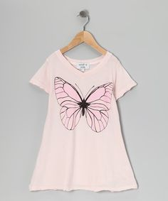 Take a look at this Wildfox Couture Pink Butterfly V-Neck Tee - Girls on zulily today!