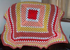 Картинки по запросу red and white crochet blanket