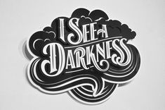 #typography #3d #black #white in Typography