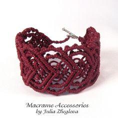 """Macrame Maroon Woman Bracelet """"Heart To Heart"""""""