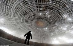 The House of the Bulgarian Communist Party on Mount Buzludzha