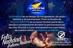 La familia de #VictoriaFM desea a todos sus oyentes #FelizNavidad.