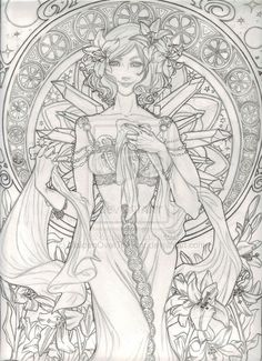 Ashe a la Art Nouveau by *LaurenGreiner on deviantART