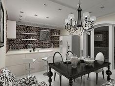 Дизайн интерьера в стиле ар деко на кухне