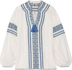 Talitha Kali Embroidered Cotton Blouse