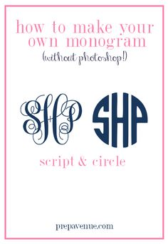 How to Make Your Own Monogram (Without Photoshop!!)