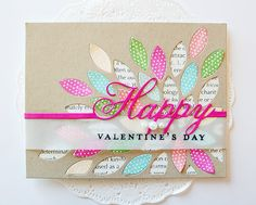 Happy Valentine's Day card by Danielle Flanders - Scrapbook Expo
