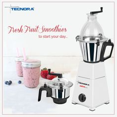 Tasty, filling & healthy, fresh fruit smoothies are a great way to start your day. Prepare juices, milkshakes, soups, smoothies and more within minutes with Tecnora Avatar 750FP Blender/Mixer/Grinder.