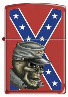 """""""Confederate Flag w/ Skull"""" Zippo Lighter by Zippo. $27.95 Southern Heritage, Southern Pride, Southern Living, Zippo Collection, Military First, Flags For Sale, Mossy Oak Camo, Confederate Flag, Zippo Lighter"""