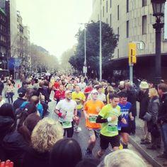 Marathon Barcelona! March 2013! Rainy day!!