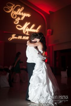 Dancing with my hubby!