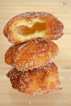 BUÑUELOS DE CUARESMA receta con Thermomix) Traditional Mexican Desserts, Spanish Desserts, Spanish Dishes, Bakery Recipes, Donut Recipes, Cooking Recipes, Best Dinner Recipes, Sweet Recipes, Mexican Dessert Recipes