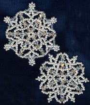 Snowflake Ornament #5 Pattern at Sova-Enterprises.com. Lots of FREE beading patterns and tutorials are available on this site!