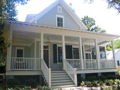 Sugarberry cottage with extended front porch - perfect spot for porch swing