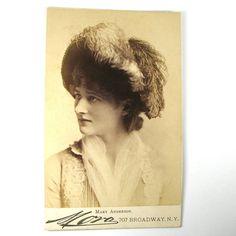 Mora Mary Anderson ACTRESS CDV Cabinet Card CIRCA by NouveauMotley, $65.00