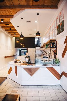 California Juice Bar . Scandinavian Feel . via Design Sponge