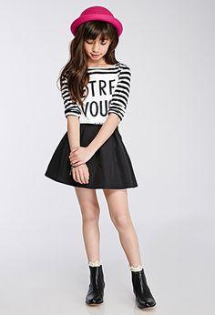 Classic Girls. Flared Box-Pleated Skirt (Kids) | #FOREVER21 girls -