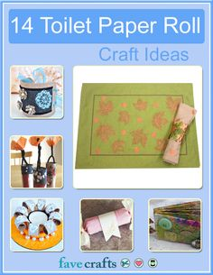14 Toilet Paper Roll Craft Ideas free eBook - free jewelry crafts, toilet paper roll crafts for kids, seasonal craft ideas and more!