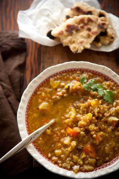 warm and spicy cauliflower soup