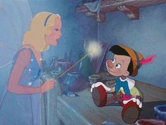"""2) Pinocchio (1940) watched 1/28/14 The Blue Fairy ~""""Prove yourself brave, truthful, and unselfish, and someday, you will be a real boy."""" I really like that she makes him work for it."""