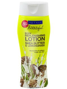 Shea Butter & Lemongrass Replenishing Body Lotion | Freeman All Things Beauty, My Beauty, Beauty Hacks, Beauty Room, Beauty Tips, Beauty Products, Body Butter, Shea Butter, Freeman Face Mask