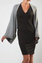YaYa Clothing - Medium Grey Melange Big Sleeve Top