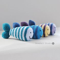 Crochet Fish Rattle Toy - Custom Baby Gift - Choose Colors on Etsy, $26.00