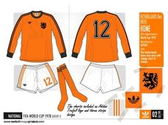 Holland home kit for the 1978 World Cup Finals. Football Design, Football Kits, Football Fashion, International Football, National Football Teams, World Cup Final, Orange Shorts, Fifa World Cup, Finals
